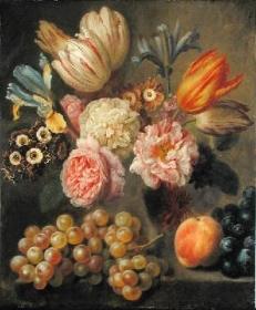 Fiori e Frutta Denner Balthasar Natura Morta