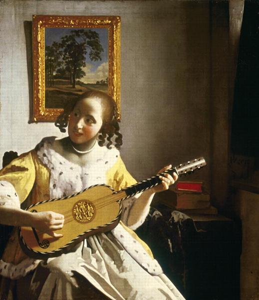 Suonatrice di chitarra - 1672