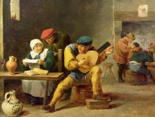 Peasants Making Music In An Inn, C.1635 - David the Younger Teniers