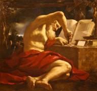 San Girolamo traduce la bibbia - 1630