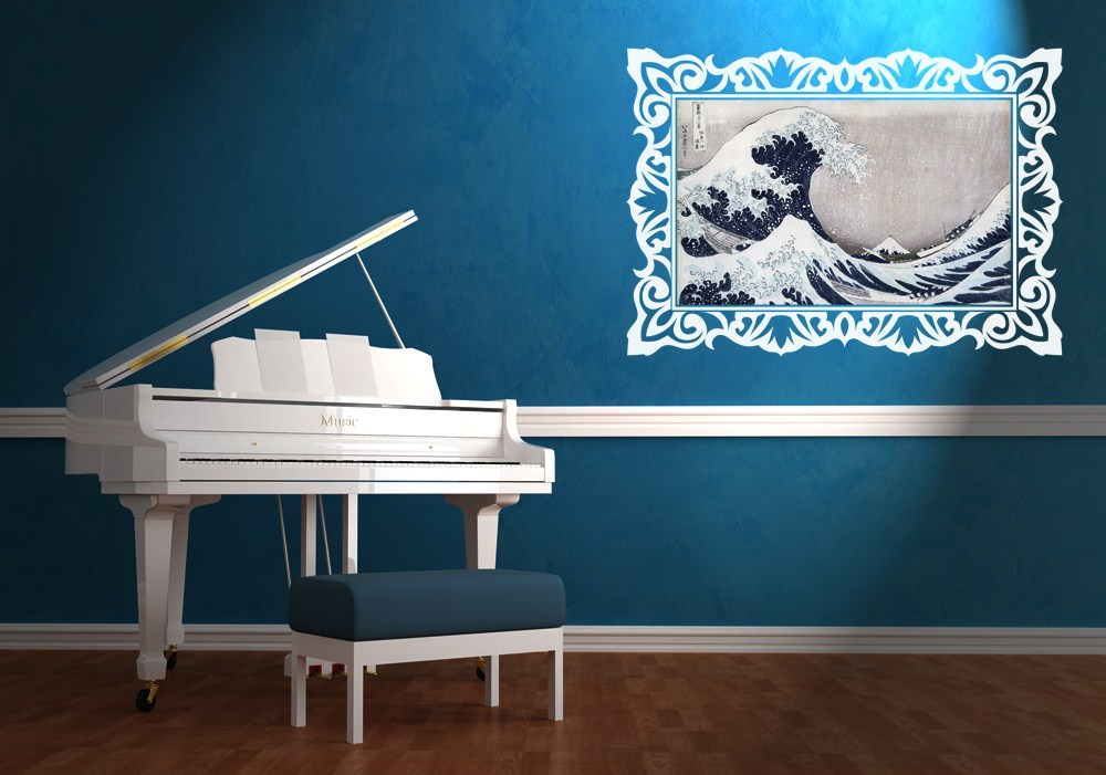 Adesivi murali per decorare le pareti scegli i pi for Cornice adesiva per pareti