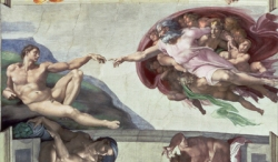 Michelangelo  - Cappella Sistina - Arte da parati di My Collection